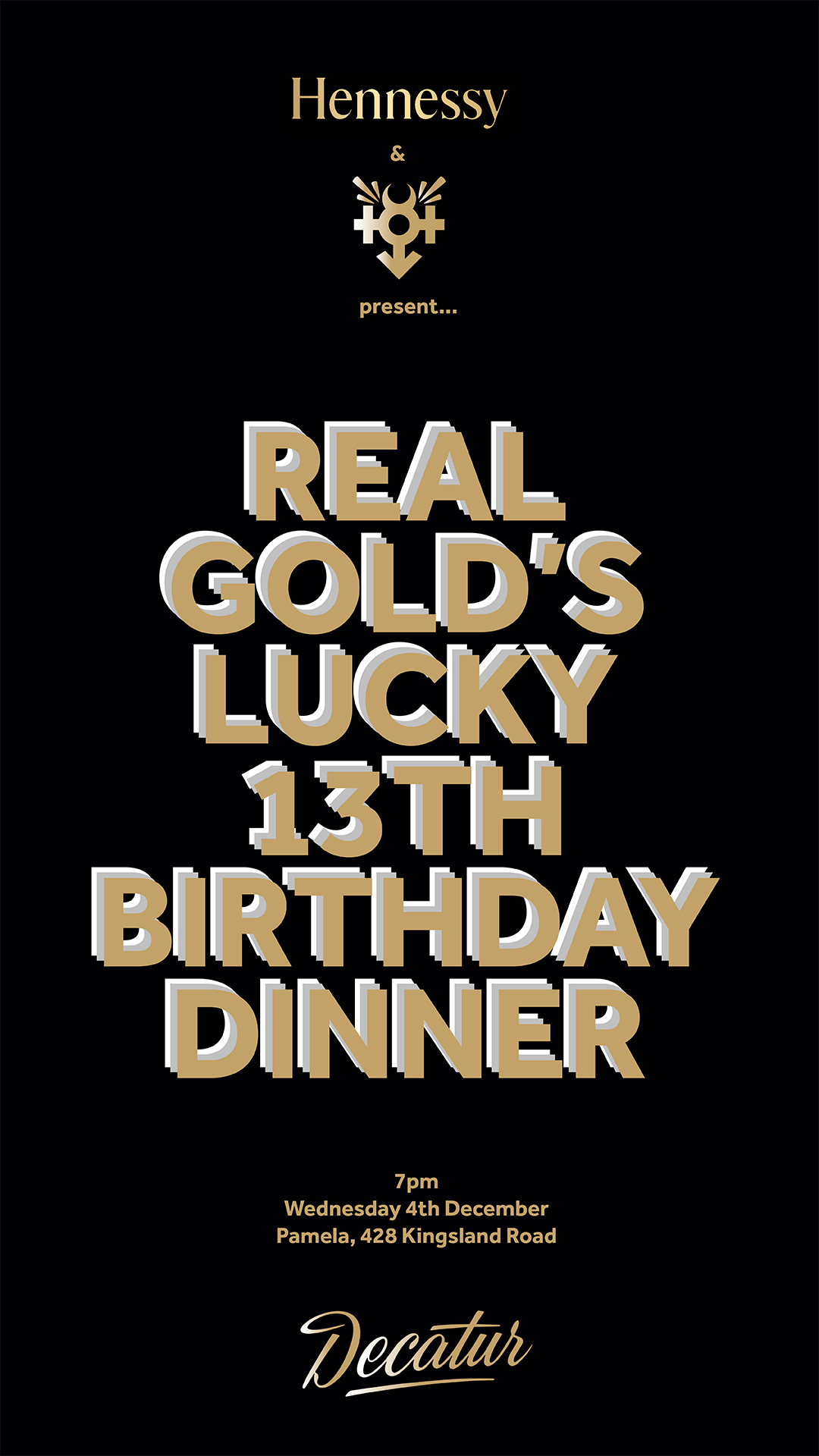 RGCOLLAB0018 // Lucky 13th Birthday Dinner